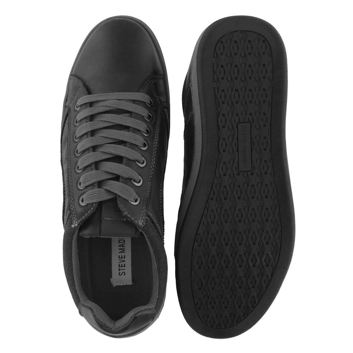 Mns Chandler dk gry laceup casual sneakr