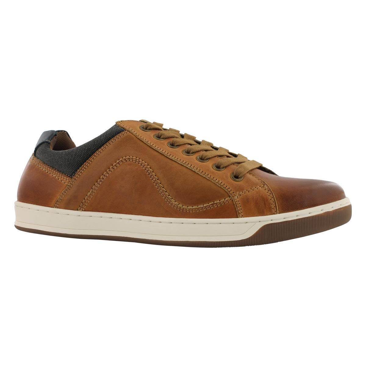 Mns Chandler rust laceup casual sneakr