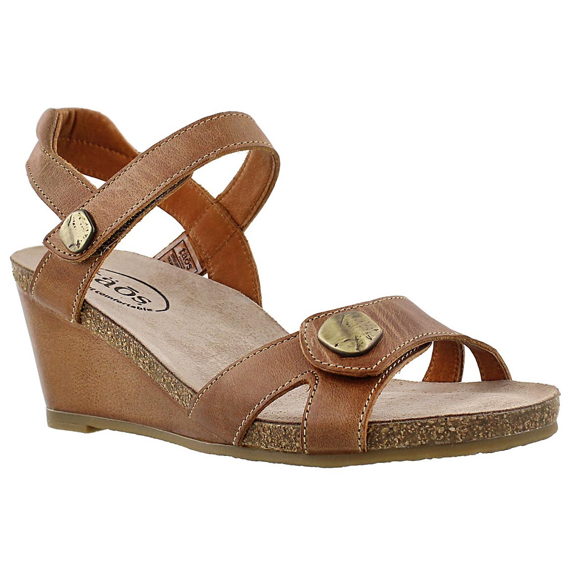 Women's CHARADE camel wedge sandals