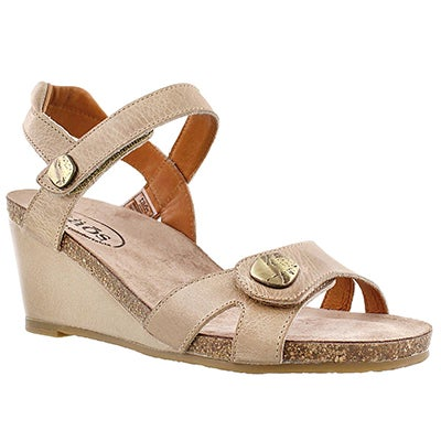 Taos Women's CHARADE stone wedge sandals