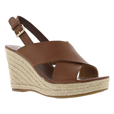 Franco Sarto Women's CHARRA tan espadrille wedge sandals