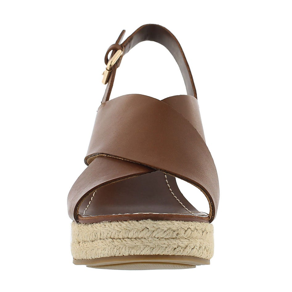 Lds Charra tan espadrille wedge sandal