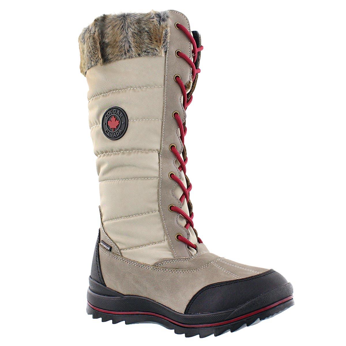 Women's CHATEAU oatmeal waterproof winter boots