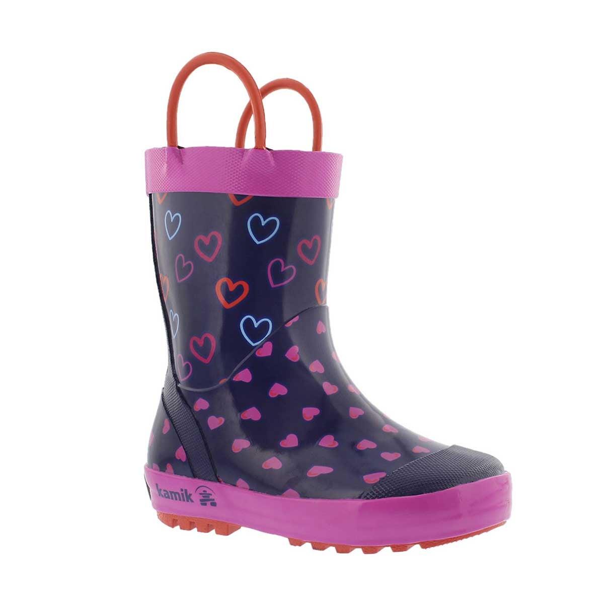 Grls Cherish purple rain boot