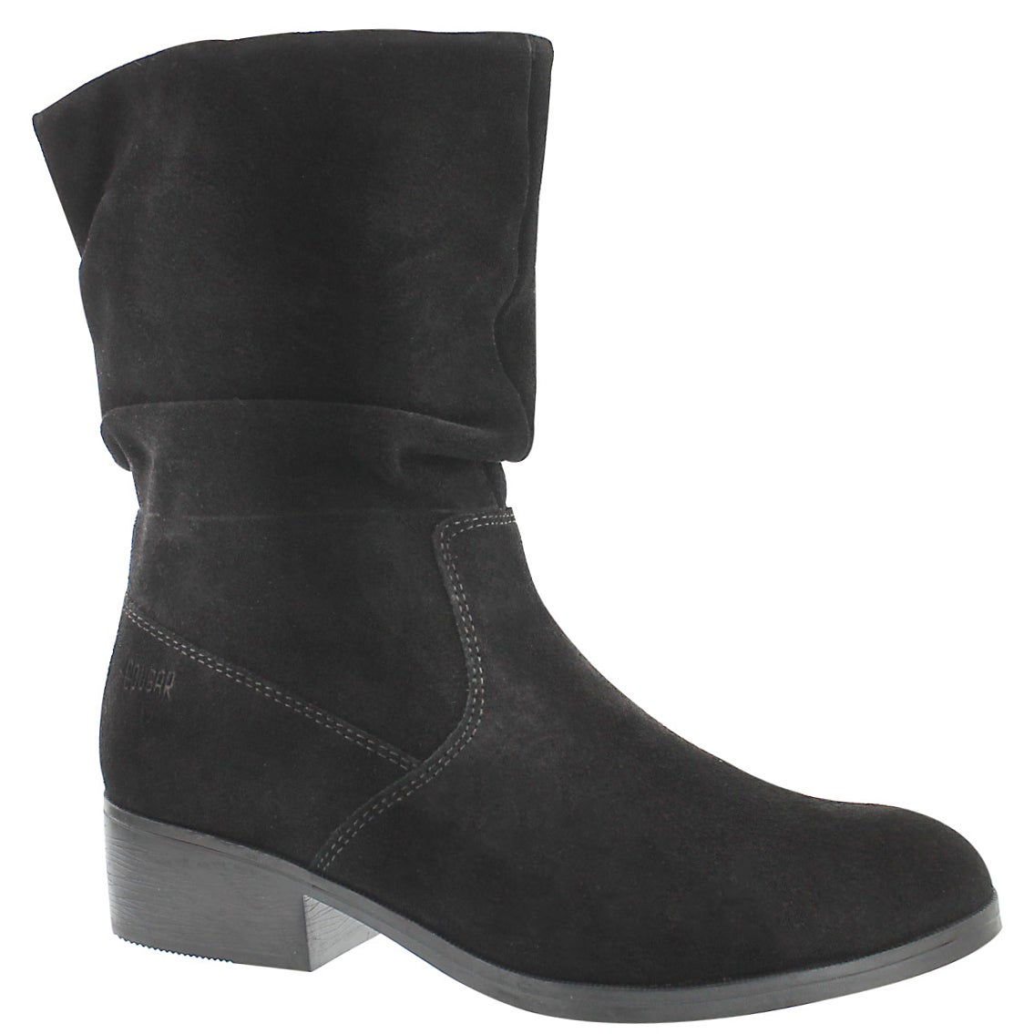 Women's CHICHI black suede waterproof booties