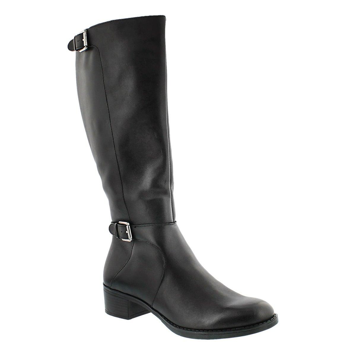 Lds Chilled blk wide shaft dress boot