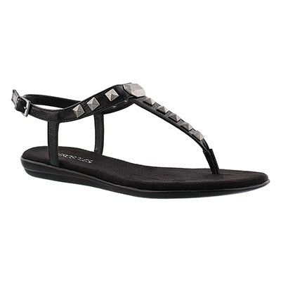Lds Chlose Together blk t-strap sandal