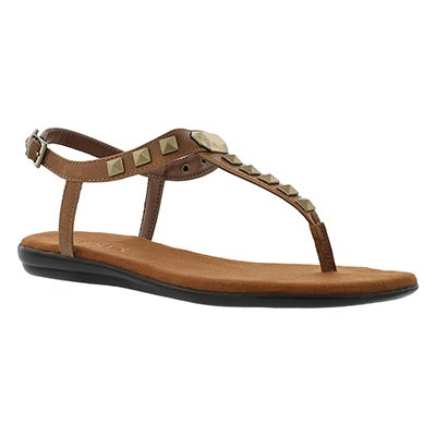 Aerosoles Women's CHLOSE TOGETHER tan t-stap sandal