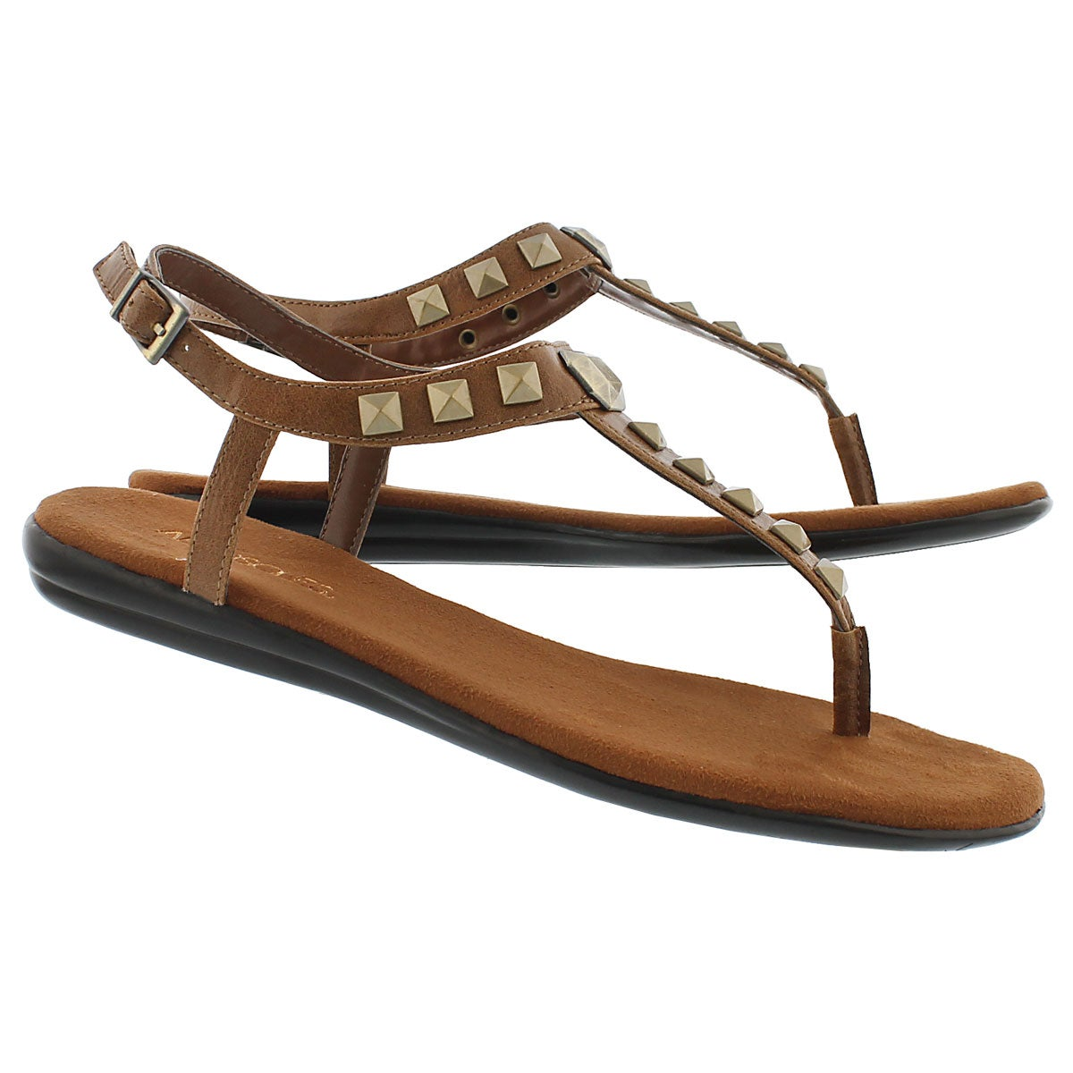 Lds Chlose Together tan t-strap sandal