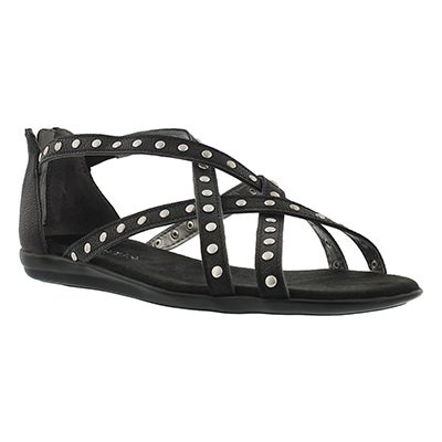 Lds Chlosing Time black gladiator sandal