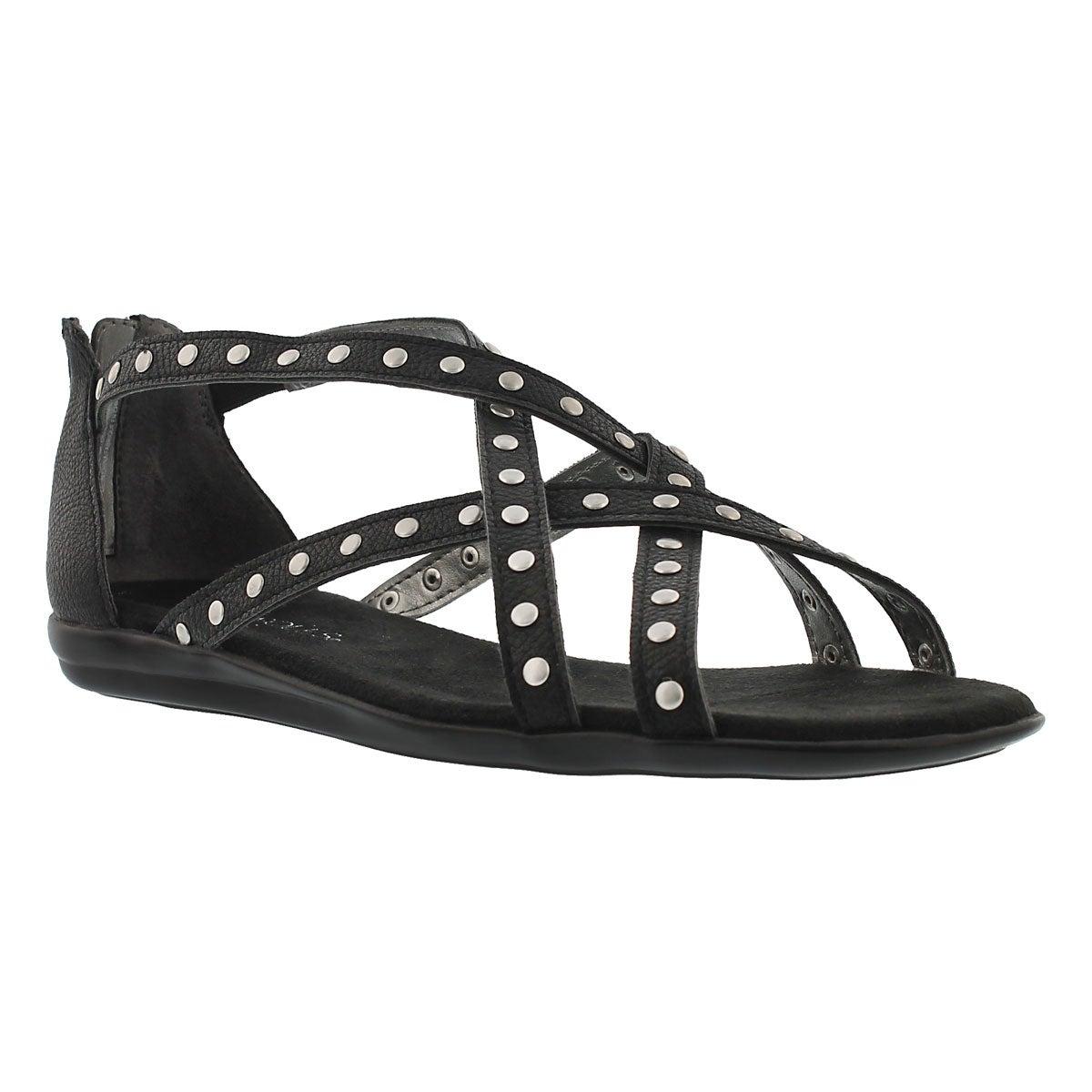 Lds Chlosing Time black gladiator sandal