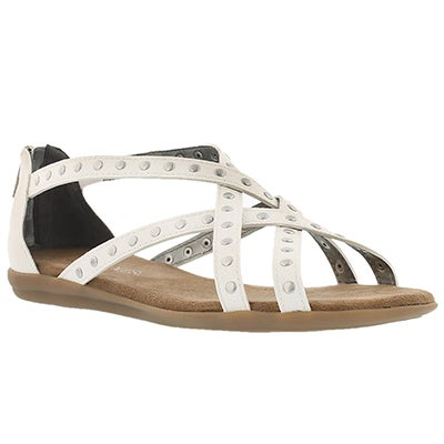 Lds Chlosing Time white gladiator sandal