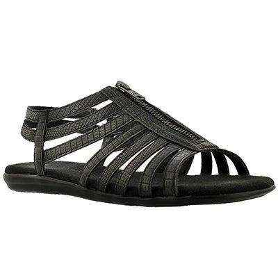 Lds Chlothesline blk lizard print sandal