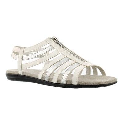 Lds Chlothesline white/silver sandal