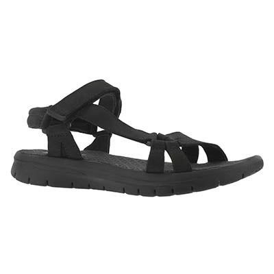 Lds Chrissy black/black sport sandal
