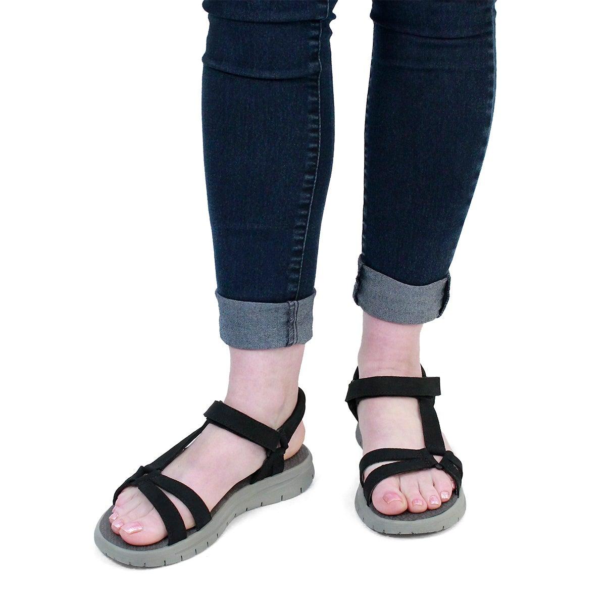 Lds Chrissy black sport sandal