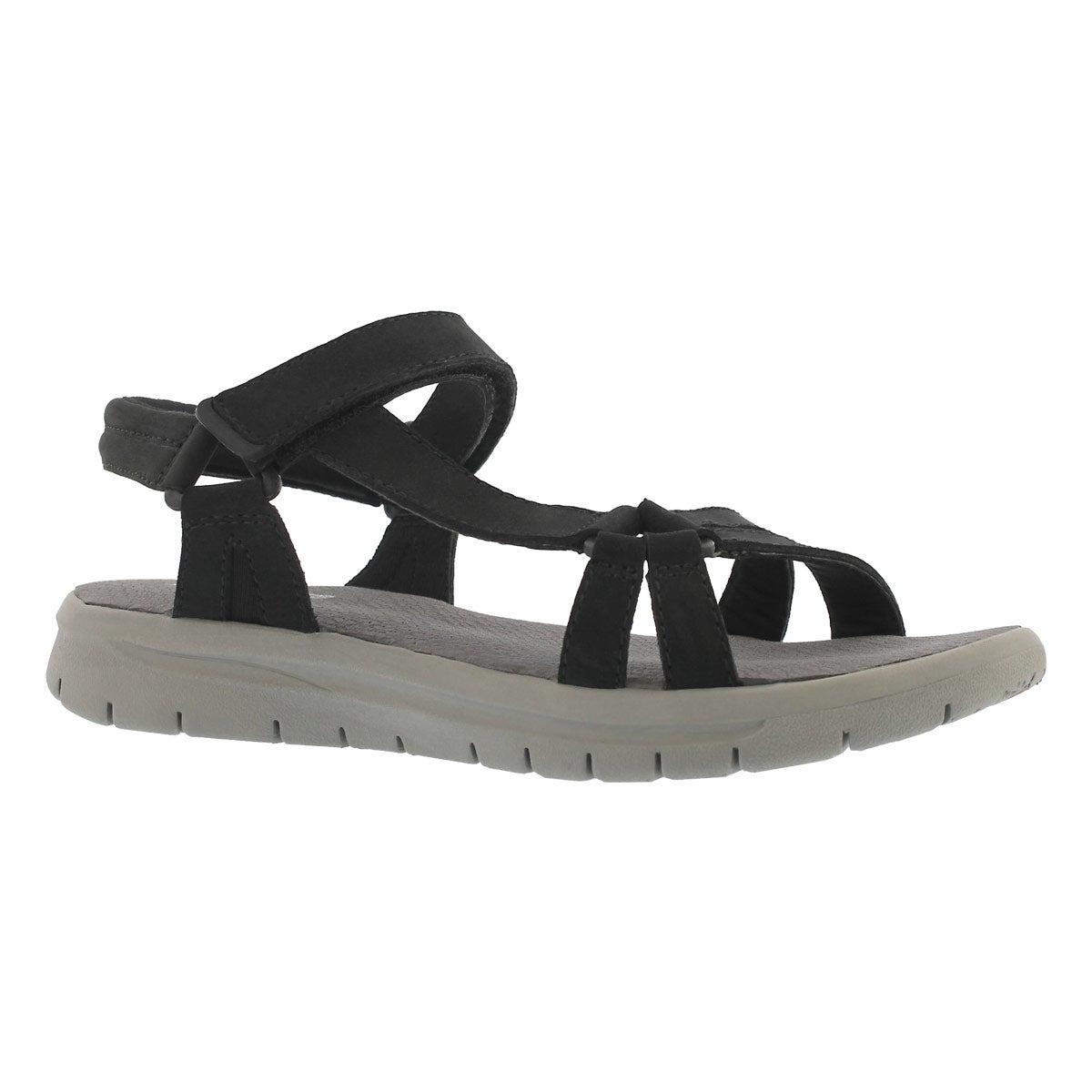 Women's CHRISSY black sport sandals