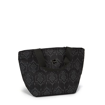 Ciao Women's black indigo demask print cooler bag