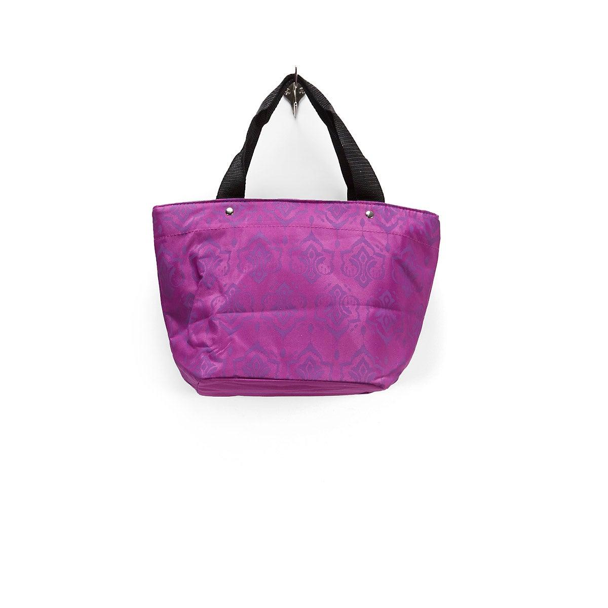 Lds magenta demask printed cooler bag