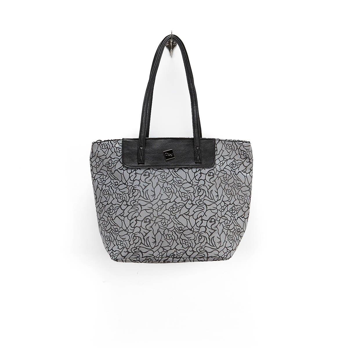 Lds Edith grey printed cooler bag