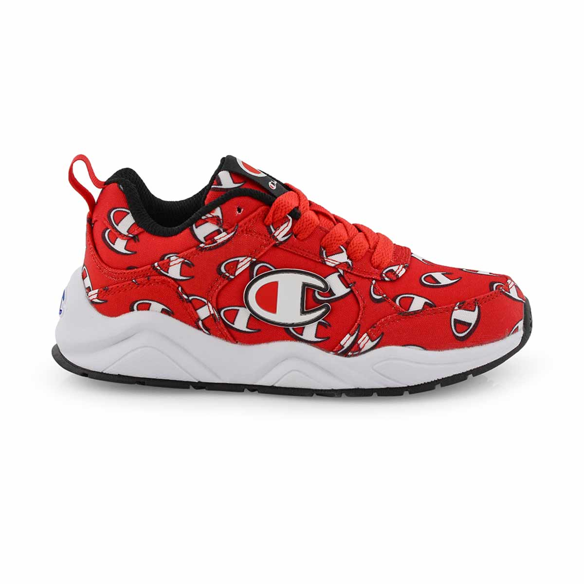 Kds 93Eighteen Repeat Logo red sneaker