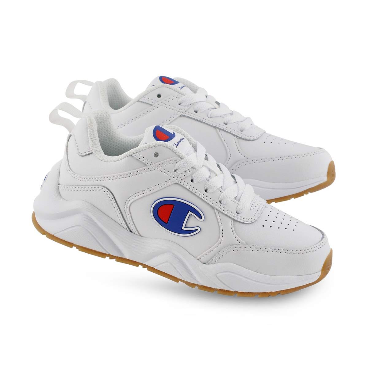 Kds 93Eighteen Mini wht lace up sneaker