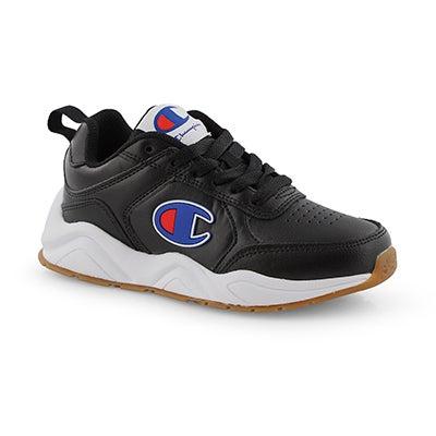 Kds 93Eighteen Mini blk lace up sneaker