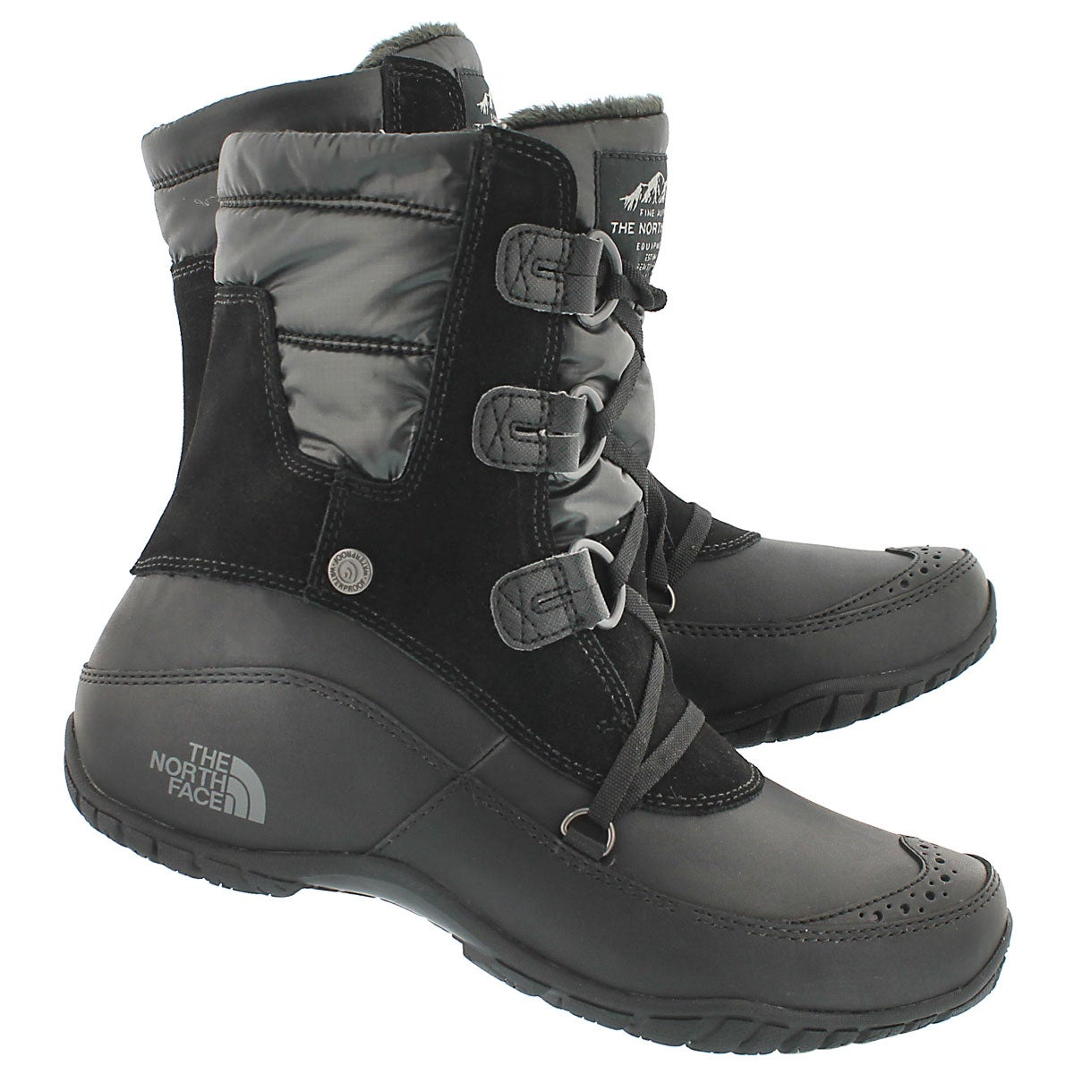 Lds Nuptse Purna Short blk/gry wntr boot
