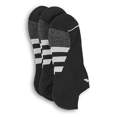 adidas Men's CUSHIONED II black low cut socks -3pk