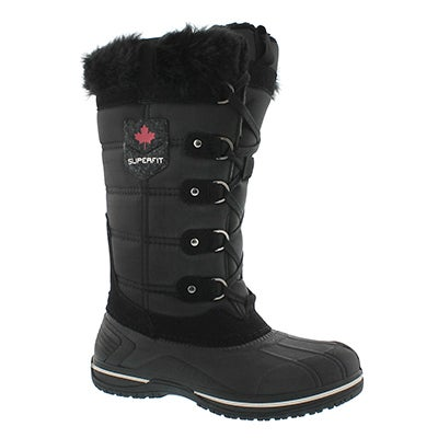 Superfit Women's CLARA black waterproof tall winter boots