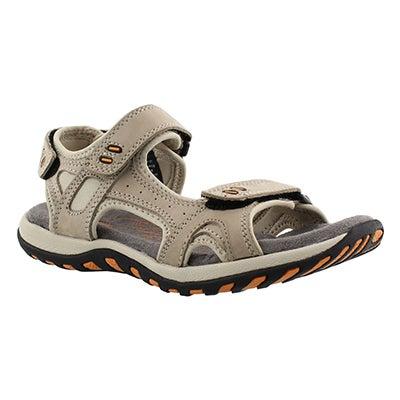 Lds Clara 2 stone 3 strap sport sandal