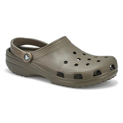 Crocs Men's CLASSIC chocolate comfort clogs