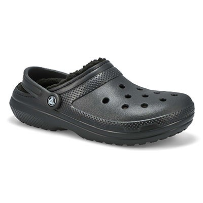 Crocs Men's CLASSIC LINED black comfort clogs