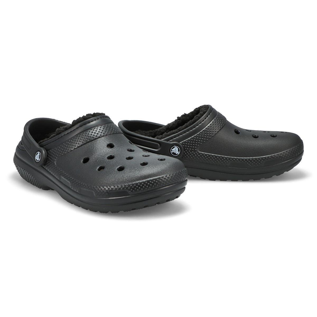 Mns Classic Lined black comfort clog