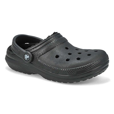 Crocs Women' s CLASSIC LINED black comfort clogs