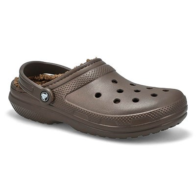 Crocs Men's CLASSIC LINED espresso comfort clogs