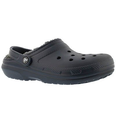 Crocs Men's CLASSIC LINED navy comfort clogs