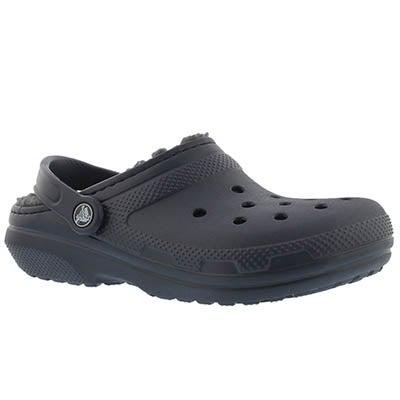Crocs Women's CLASSIC LINED navy comfort clogs