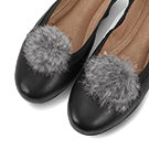 Clip on grey pom accessory- 2 pack