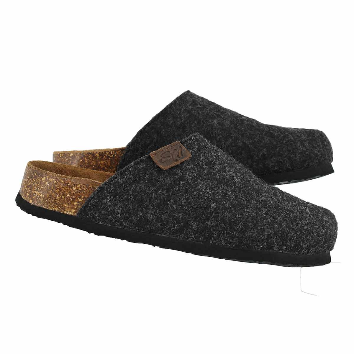 Lds Cloggin grey wool casual clog