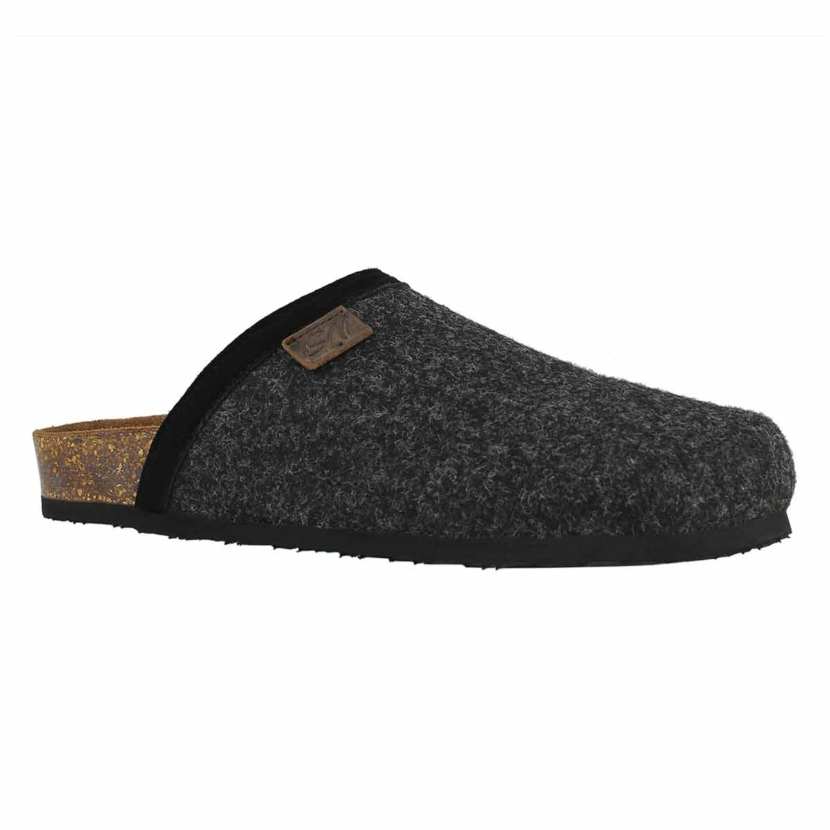 Mns Cloggin-M grey wool casual clog