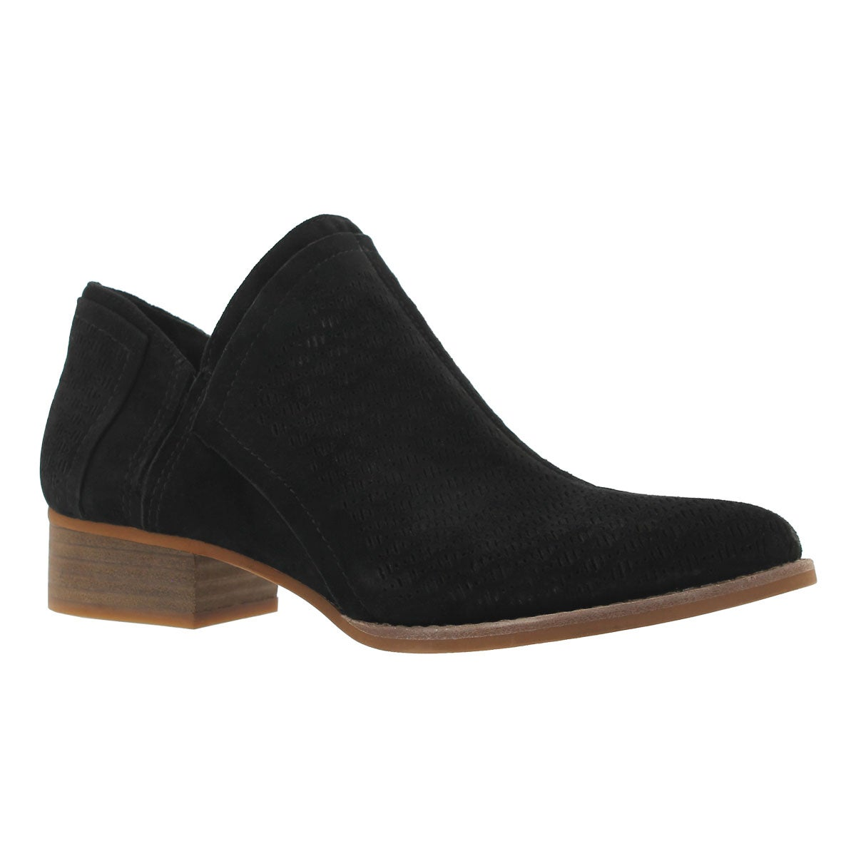 Women's CLORIEEA black slip on casual booties