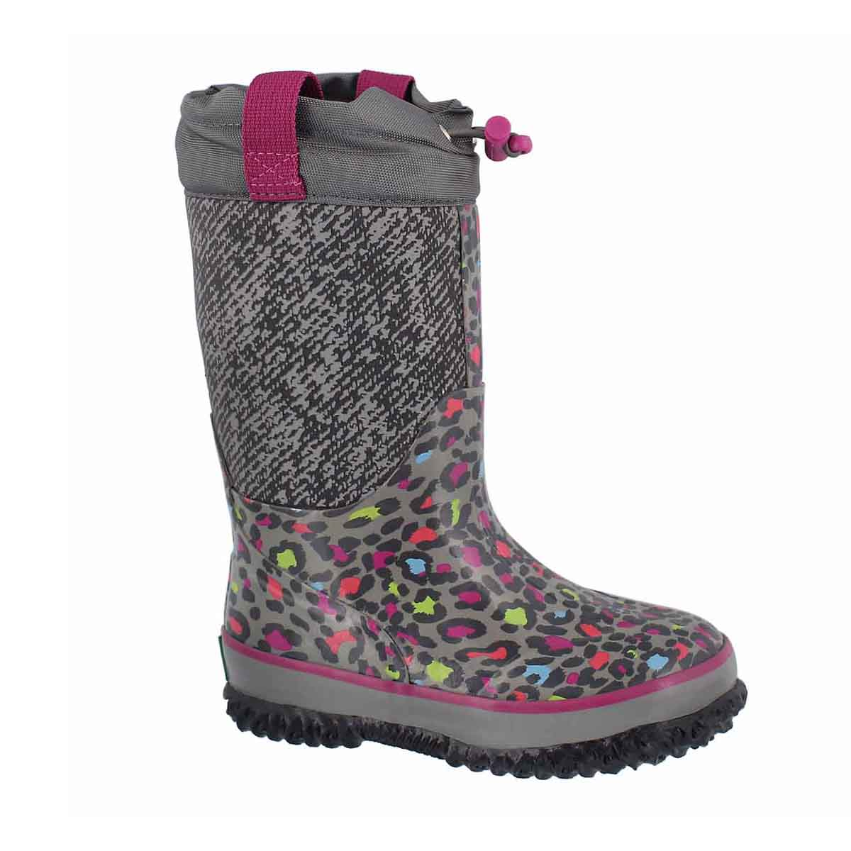 Girls' CLOUDBURST leopard pullon wp winter boots