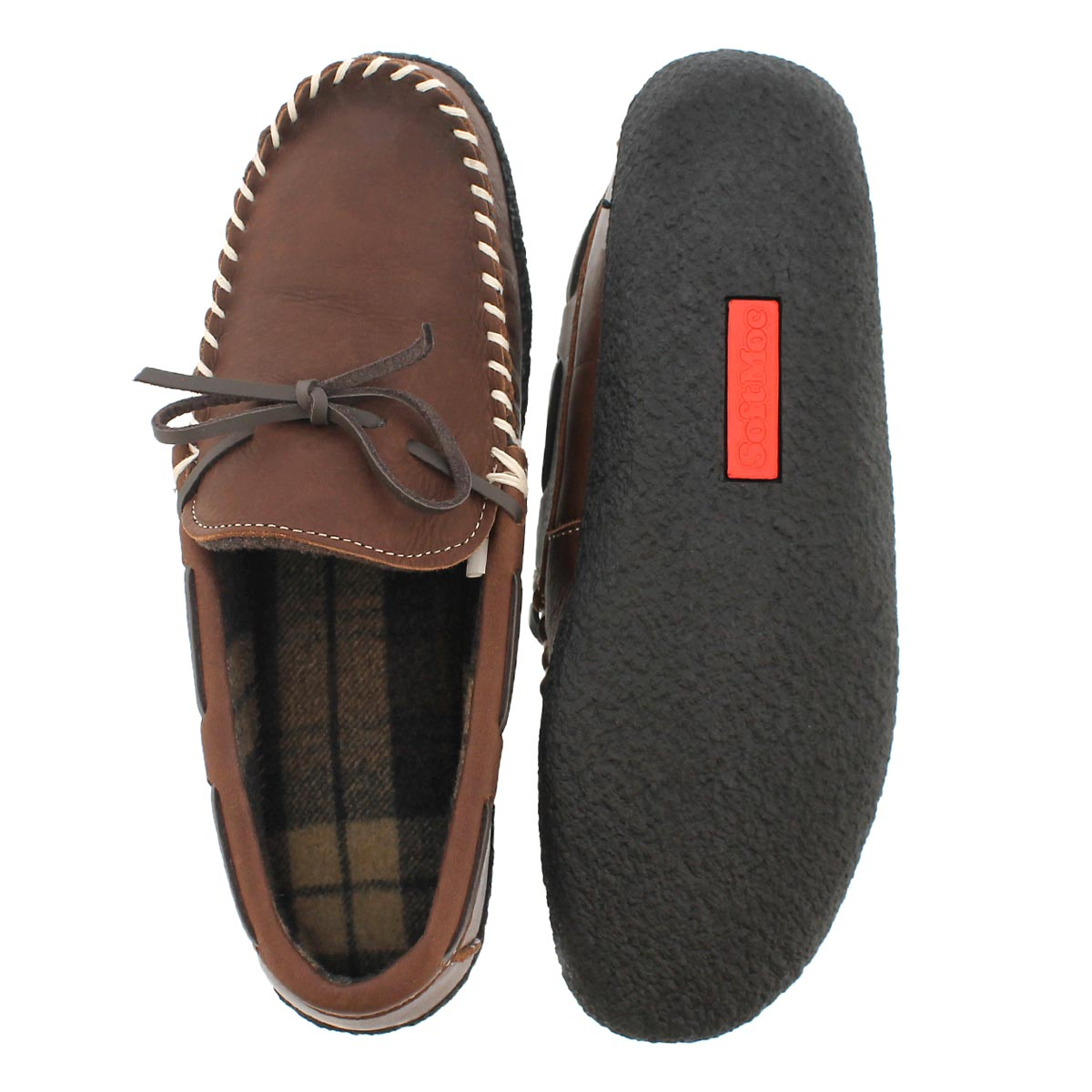 Mns Clovis brown lined moccasin
