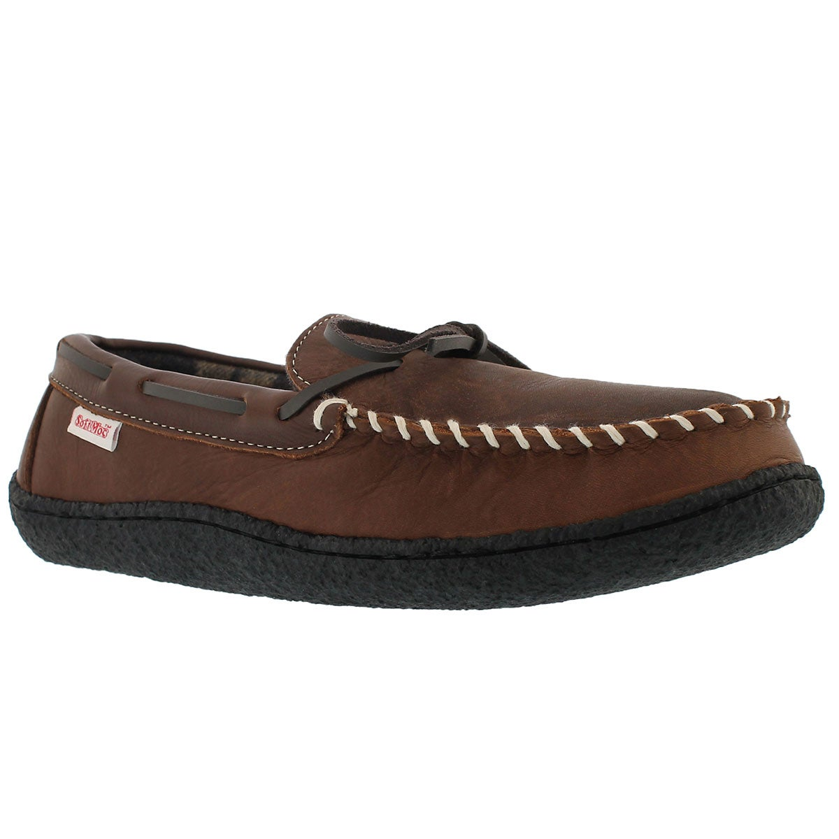 Men's CLOVIS brown lined moccasins