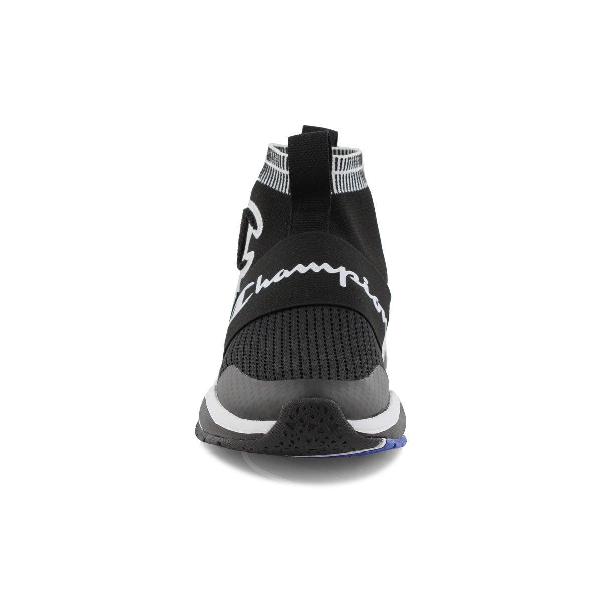 Girls' RALLY PRO black slip on sneaker