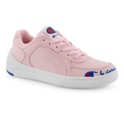 Lds Court Low pink lace up sneaker