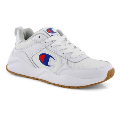 Mns 93Eighteen white lace up sneaker