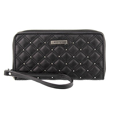 Lds Roots73 Coco 71-IP blk zip wristlet