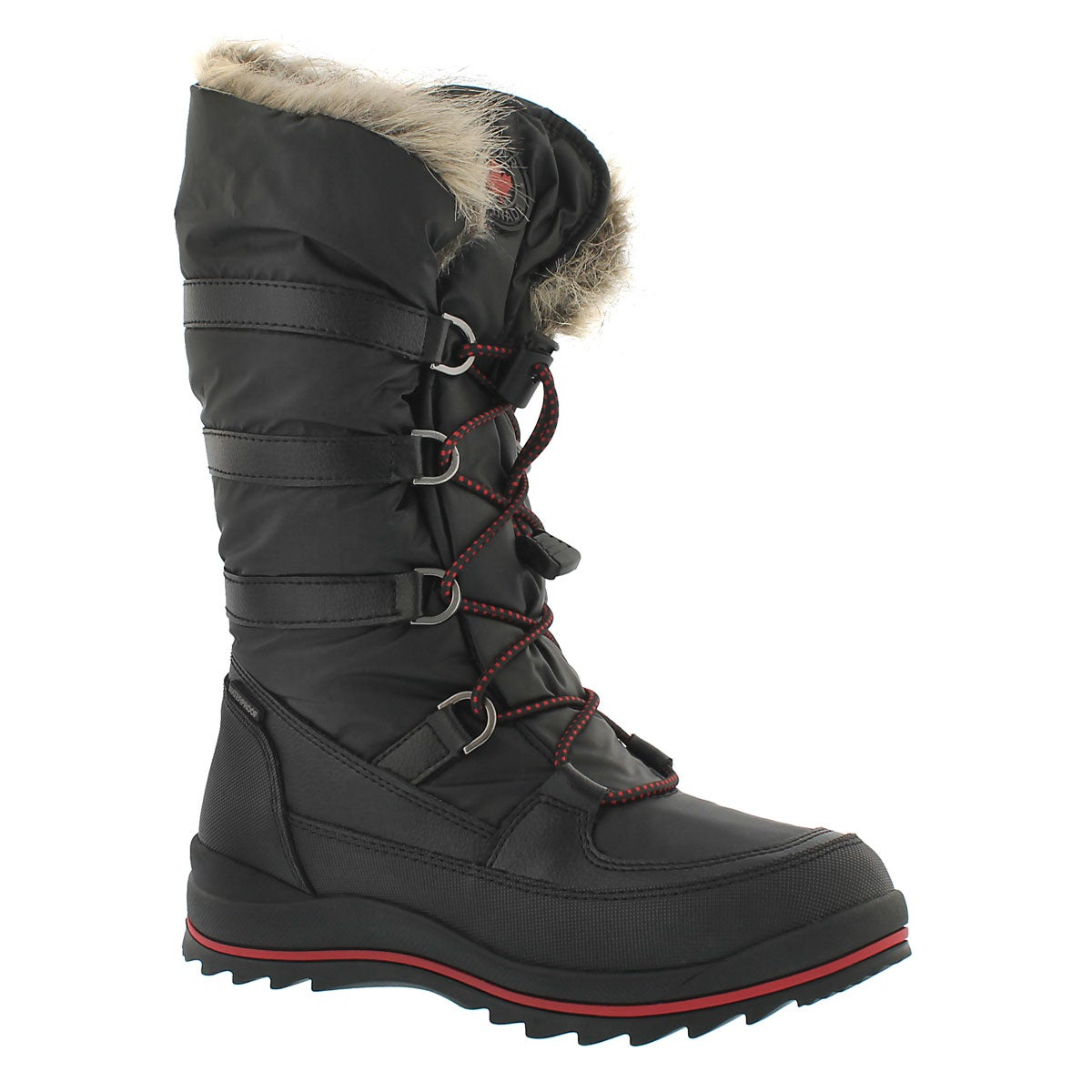 Grls Coco black nylon wtpf winter boot